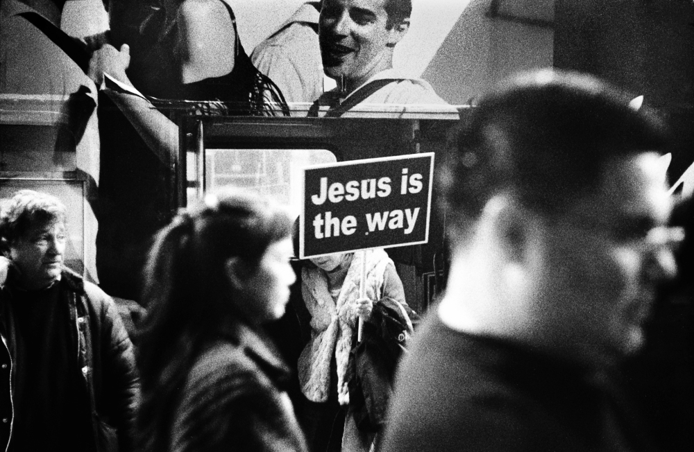 Street photography, Los Angeles Mon amour, Leica, black and white, jesus is the way,